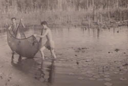 Coleta de peixes próximo a Belém por volta de 1957