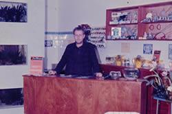 Horst Ladewig (fabricante de aquários de ferro) na inauguração do Netuno Aquarium em 1968