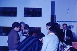 Julio Siri (à direita) na inauguração do Netuno Aquarium em 1968